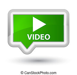 Video prime green banner button