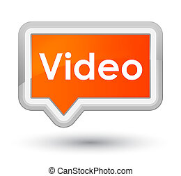 Video prime orange banner button