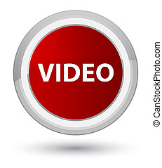 Video prime red round button