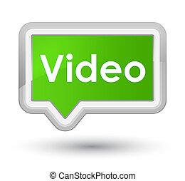 Video prime soft green banner button