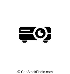 Video Projector Flat Vector Icon - Video Projector. Flat...