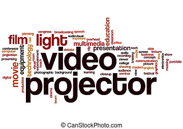 Video projector word cloud
