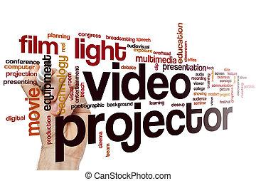 Video projector word cloud