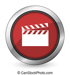 video red icon cinema sign