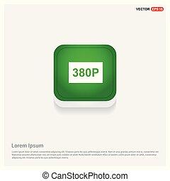video resolution icon Green Web Button
