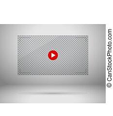 Video screen illustration