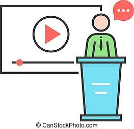 video seminar with spokesman