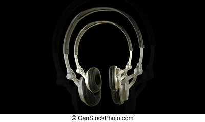 video sequence made from shots of headphones