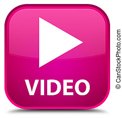 Video special pink square button