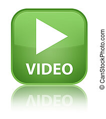 Video special soft green square button