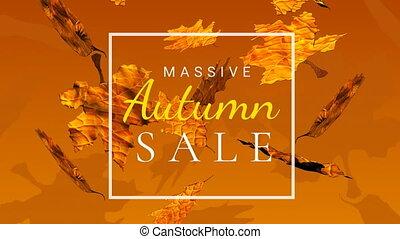 video, sprzedaż, jesień, 4k, rodzony, palczasto