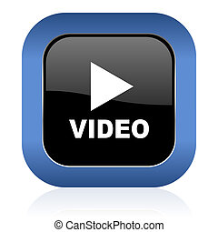 video square glossy icon