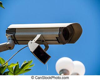 video surveillance camera - a video camera of a surveillance...