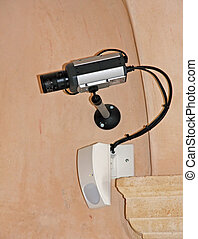video surveillance camera and a radar double intrusion...