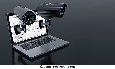 Video surveillance camera and lapto