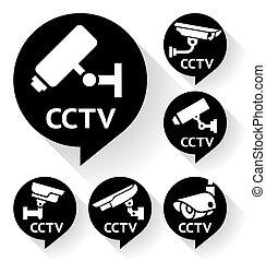 Video surveillance, camera set black
