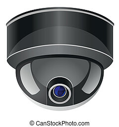 video surveillance camera vector illustration isolated on...