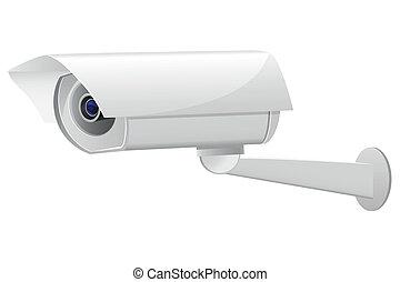 video surveillance camera vector illustration isolated on...