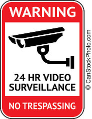Video surveillance, cctv label - Warning Sticker for...
