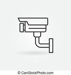 Video Surveillance line icon. Vector CCTV symbol