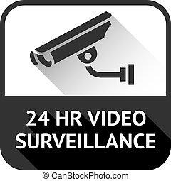 video surveillance on black square