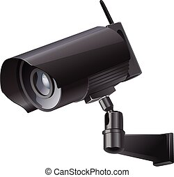Video surveillance sign. CCTV Camera.