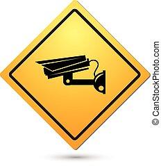 Video surveillance sign. CCTV Camera. vector