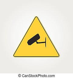 Video Surveillance Sign Illustration