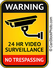 Video surveillance sign - Warning Sticker for Security Alarm...