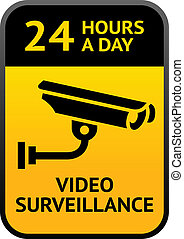Video surveillance sign - Label video surveillance sign
