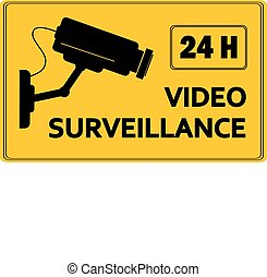 Video surveillance sign - vector illustration.