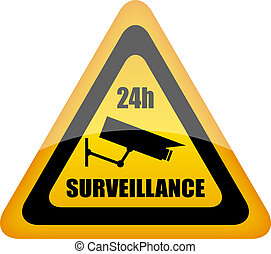Video surveillance sign - Vector video surveillance sign