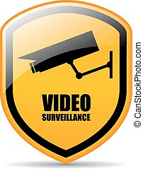 Video surveillance sign - Video surveillance vector sign