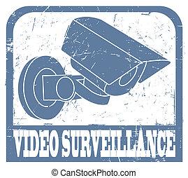 Video surveillance stamp