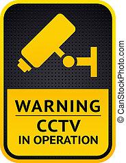Video surveillance sticker 10eps