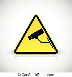 Video surveillance symbol.