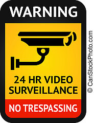 Video surveillance symbol - Label video surveillance symbol