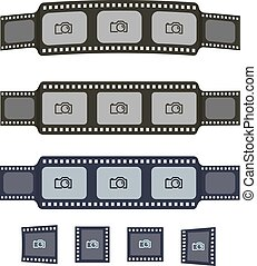 Video tape frames templates for your photo design