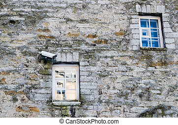 Video the chamber on a building facade - The chamber of...