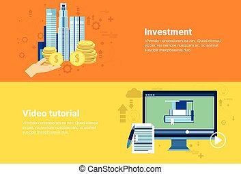 Video Tutorial Editor Investment Money Modern Technology Web Banner