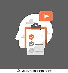 Video tutorial, online university class, exam preparation,...