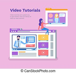 Video Tutorials Poster with Text Sample and Info - Video...