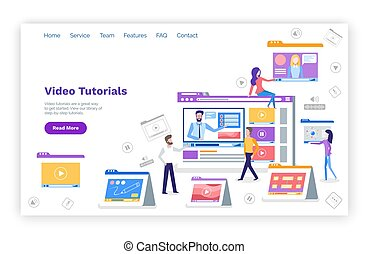 Video Tutorials Web Page with Text Sample Devices - Video...