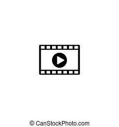 Video vector icon on white