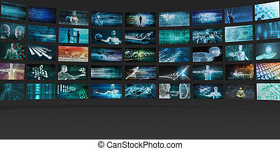 Video Wall Abstract