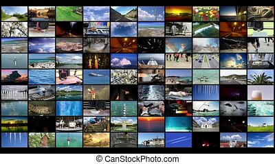 Video Wall background widescreen 4K video
