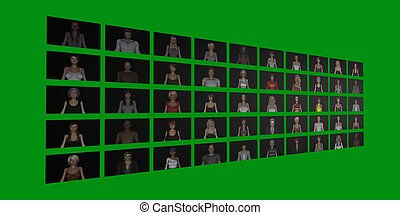 Video Wall of People