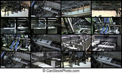 Video Wall Printing Industry Process, 16 screens static