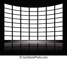 Video Wall with distortion Video Wall with distortion -...