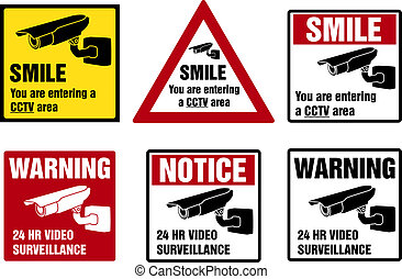 video_surveillance_smile - Video surveillance signs....